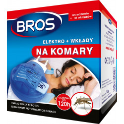 Bros - Elektro + Wkłady 10szt. na komary
