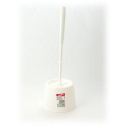 Komplet WC szczotka + podstawka biały